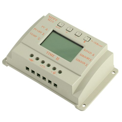Front view of 10amp MPPT Solar Controller