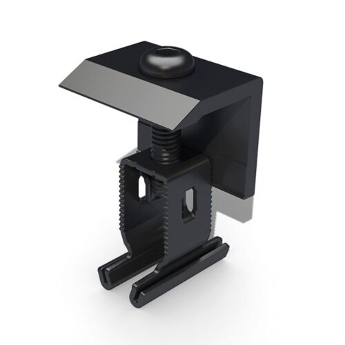 Roof rail end clamp in black